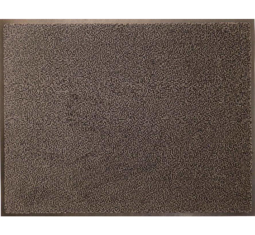 Tapis d'entrée anti poussière écologique, brun
