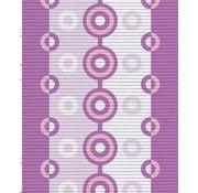 Antislipmat op maat, paars/roze dessin