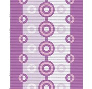 Tapis multi usage au mètre, motif pourpre/rose