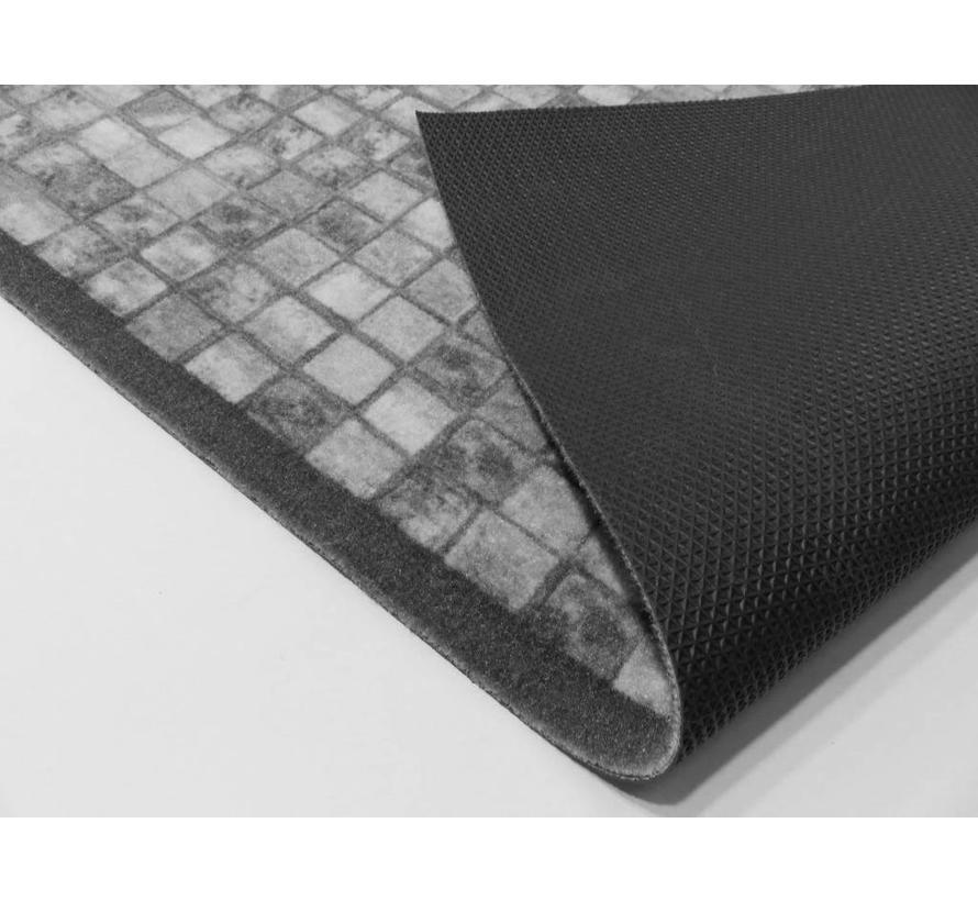 Tapis de passage sur mesure, mosaïque gris