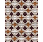 Tapis multi usage au mètre, motif retro