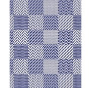 Tapis antidérapants sur mesure, carreaux bleu