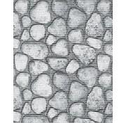 Tapis antidérapant sur mesure, cailloux gris