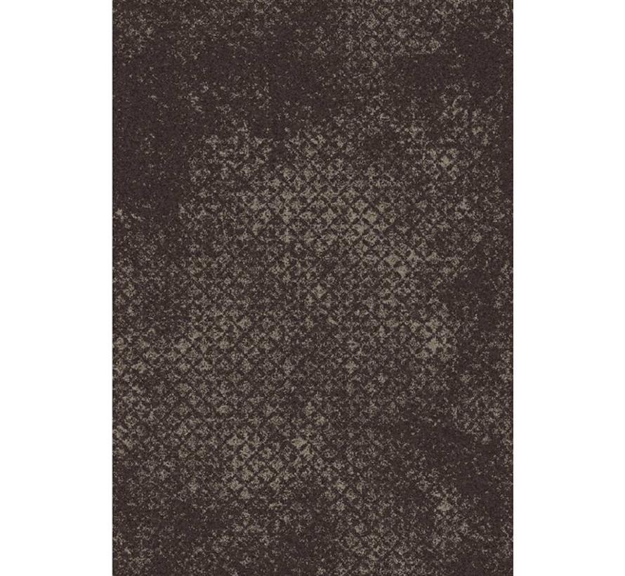 Tapis gris/brun avec vintage look