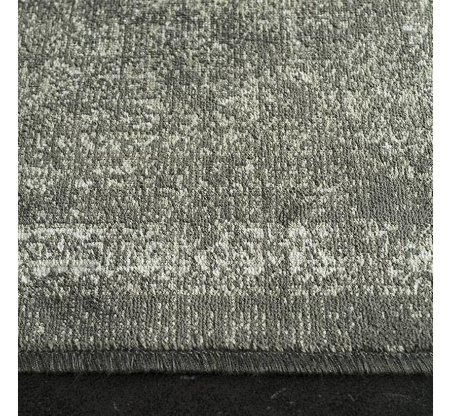 Viscose tapijt met klassiek dessin, antra