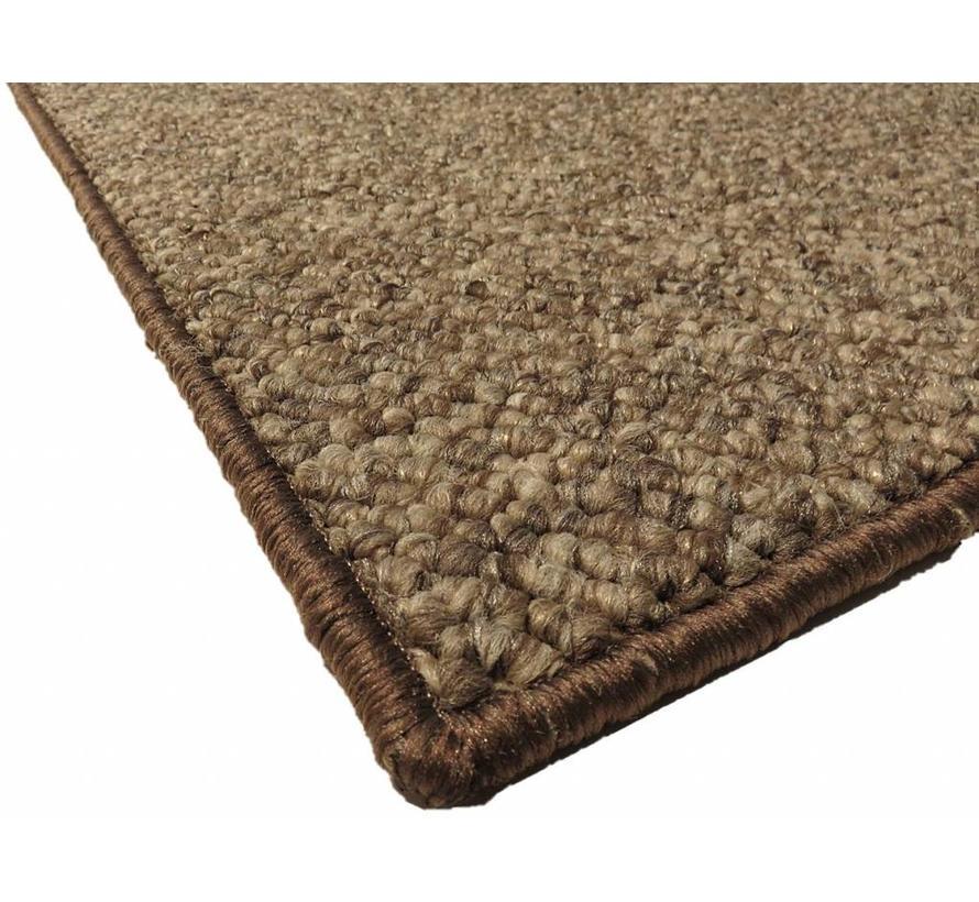 Tapis modern wool look, brun