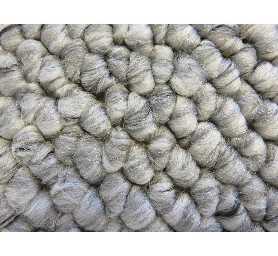 Tapis modern wool look, gris