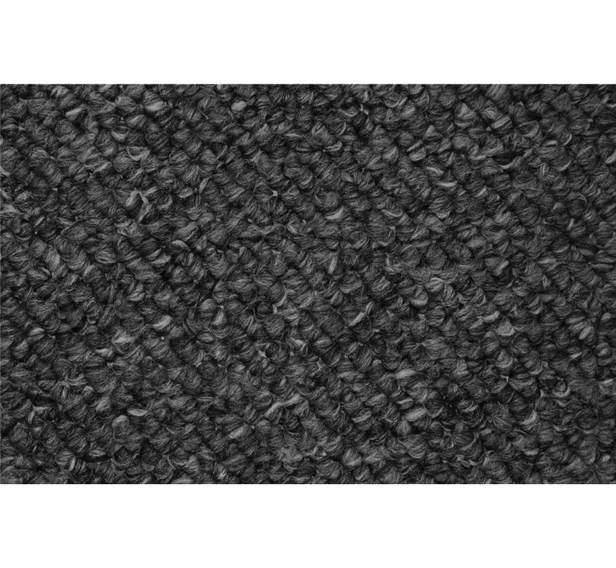 Modern tapijt met wol optiek, antraciet
