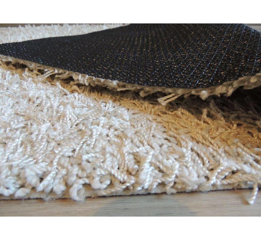 Hoogpolige badmat beige