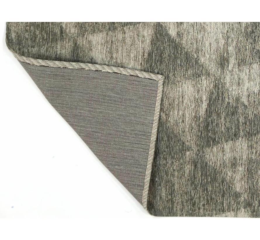 Modern tapijt met geometrische print, grijs