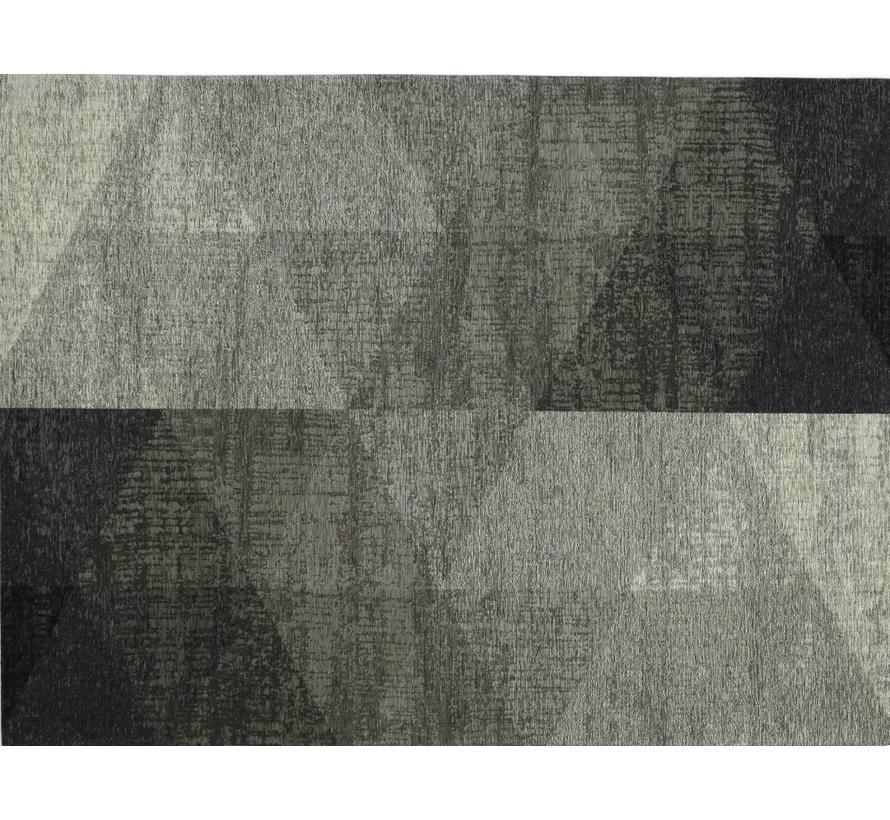 Modern tapijt met geometrische print, zilver