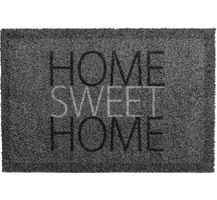 Tapis anti poussière gris Home Sweet Home