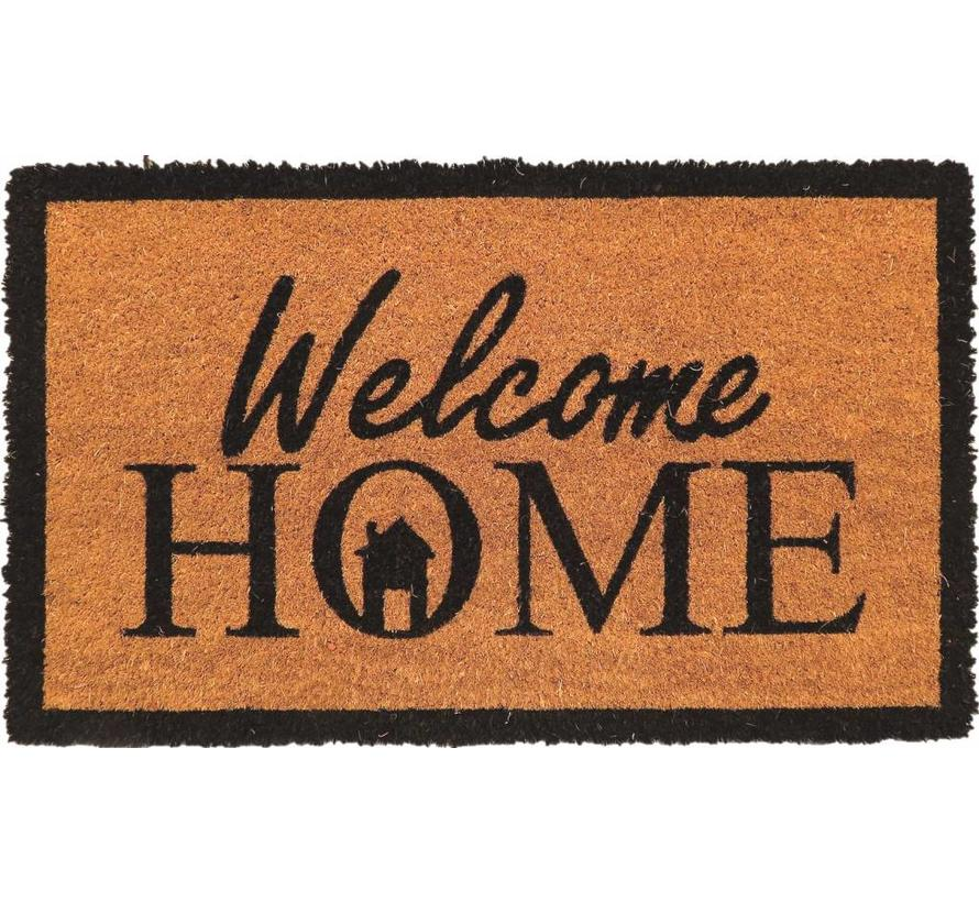 Tapis coco imprimé Welcome Home