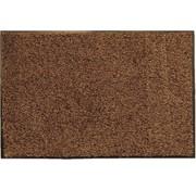 Tapis d'entrée écologique en coton, brun