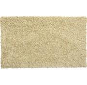 Tapis de bain poil long beige