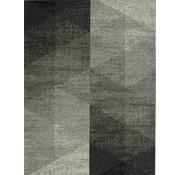 Tapis moderne, dessin géométrique, argent