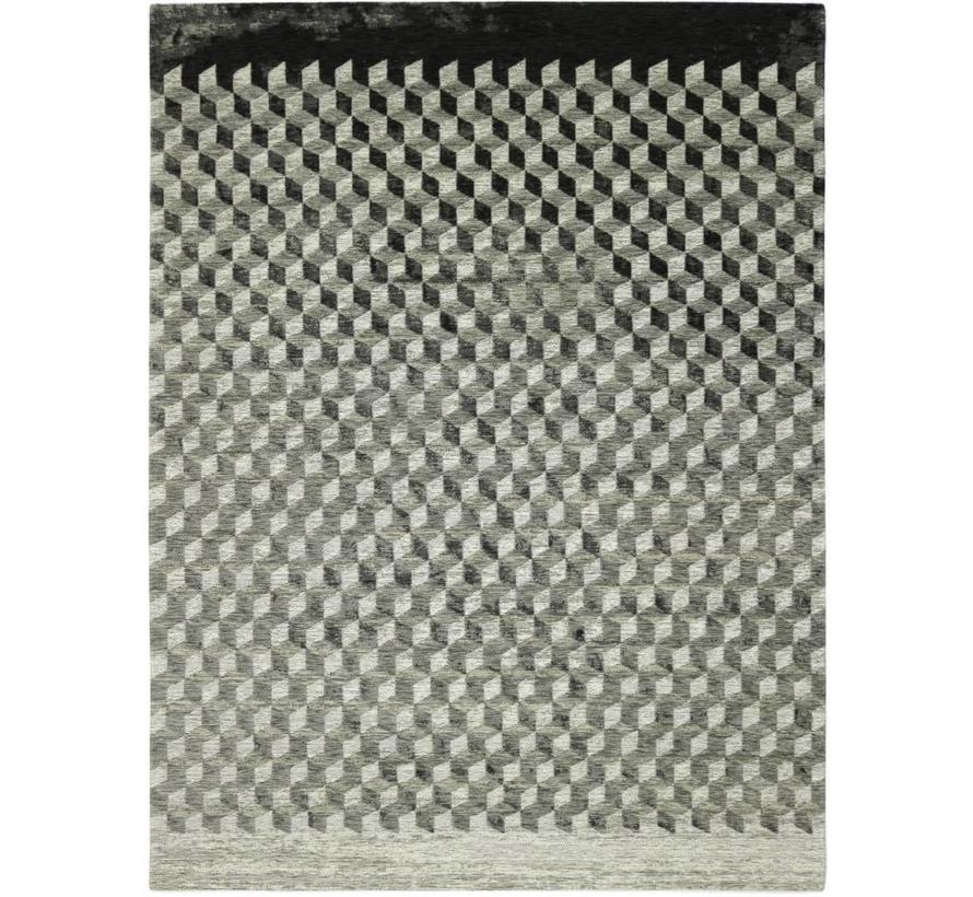 Modern tapijt met geometrische print, taupe
