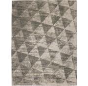Tapis moderne, dessin géométrique, gris