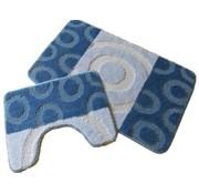 Tapis de bain set, teintes bleu