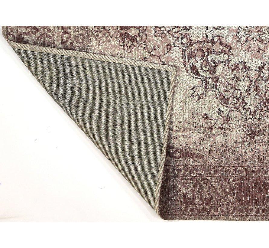 Vintage tapijt met medaillon, oud roze