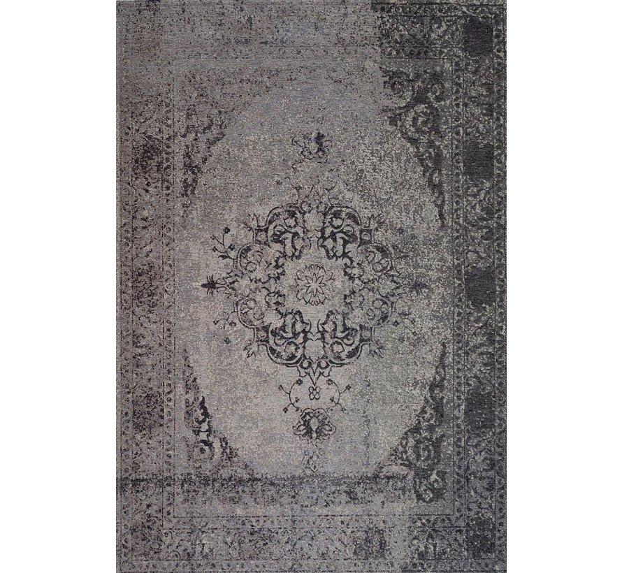 Vintage tapijt met medaillon, grijs