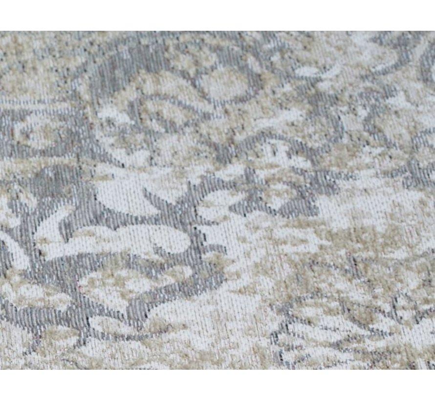 Vintage tapijt met medaillon, zilver