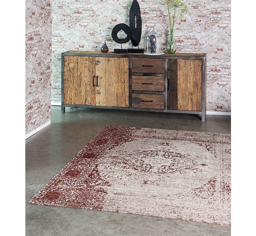 Vintage tapijt met medaillon, bordeaux