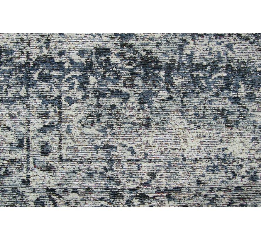 Vintage tapijt met medaillon, blauw