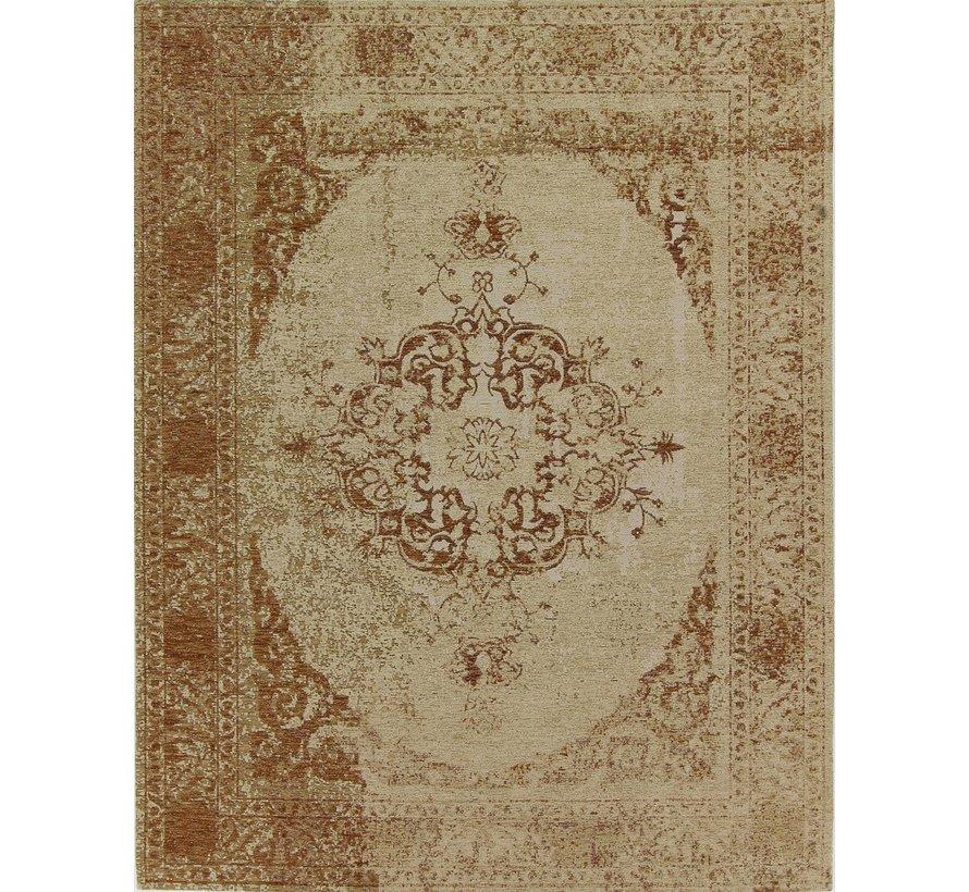 Vintage tapijt met medaillon, roest