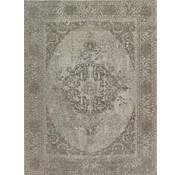 Vintage tapijt met medaillon, beige