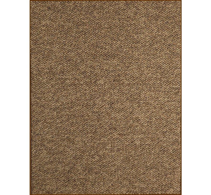 Modern tapijt met wol optiek, bruin
