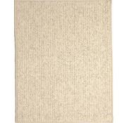 Modern tapijt met wol optiek, crème
