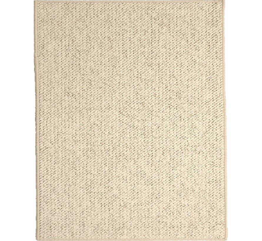 Tapis modern wool look, crème