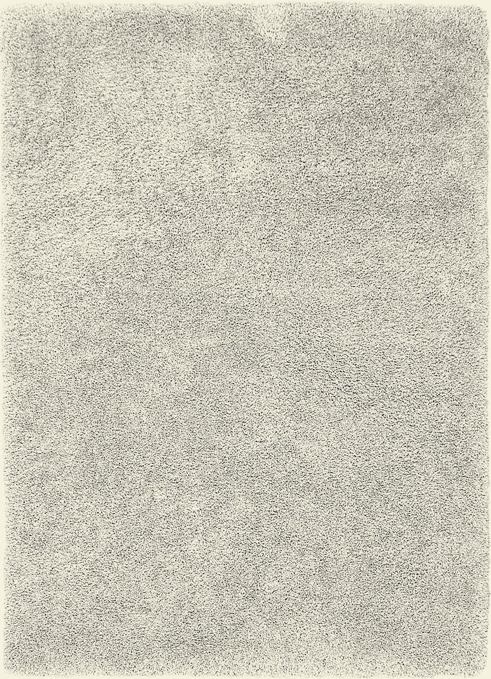 Tapis Long Poil Blanc tapis poil long blanc/beige, 45 mm, sur mesure