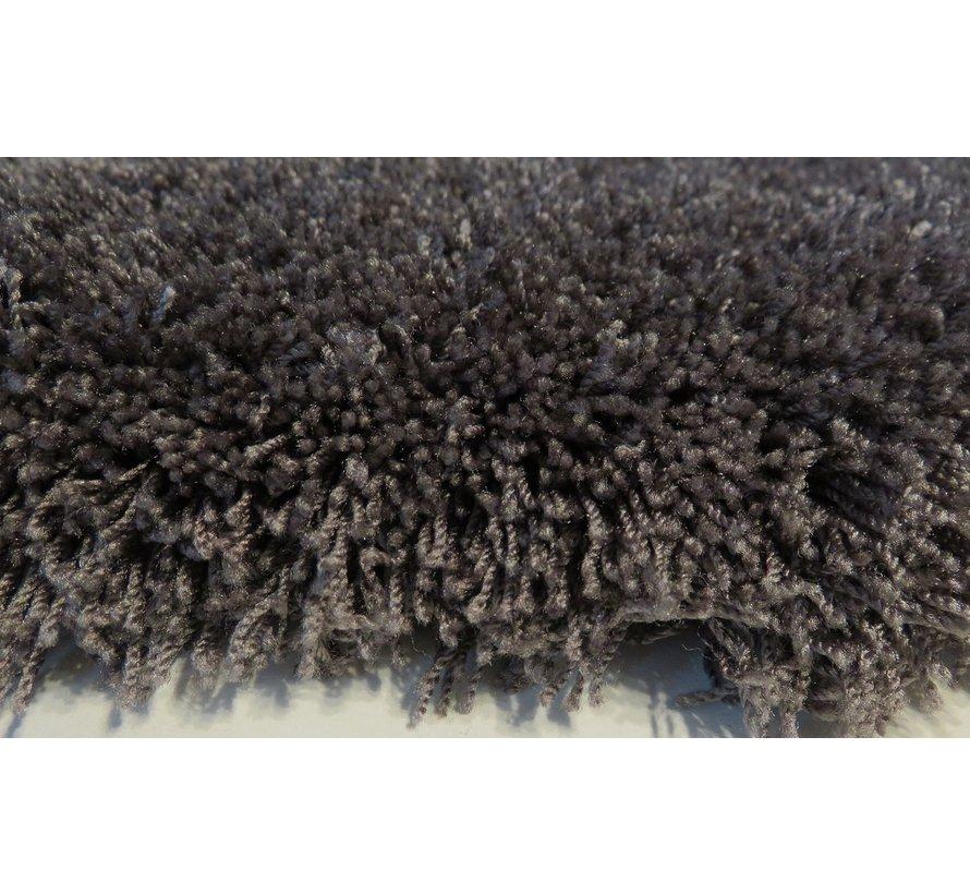 Hoogpolig tapijt antraciet, 45 mm, op maat