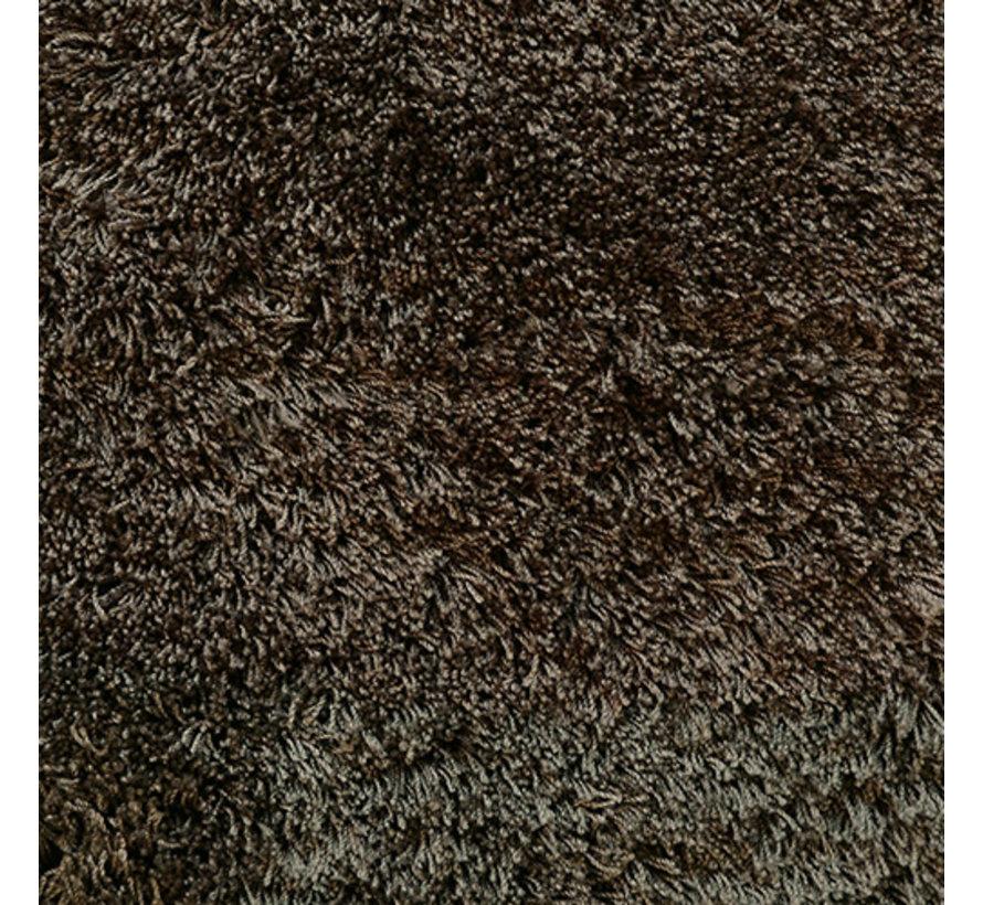 Hoogpolig tapijt bruin, 45 mm, op maat