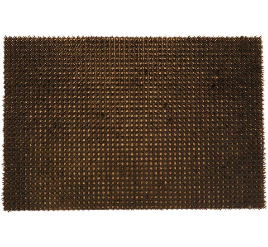 Tapis gazon grattant brun