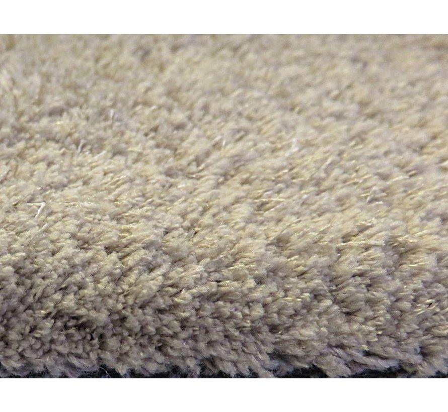 Hoogpolig tapijt taupe, 25 mm, op maat