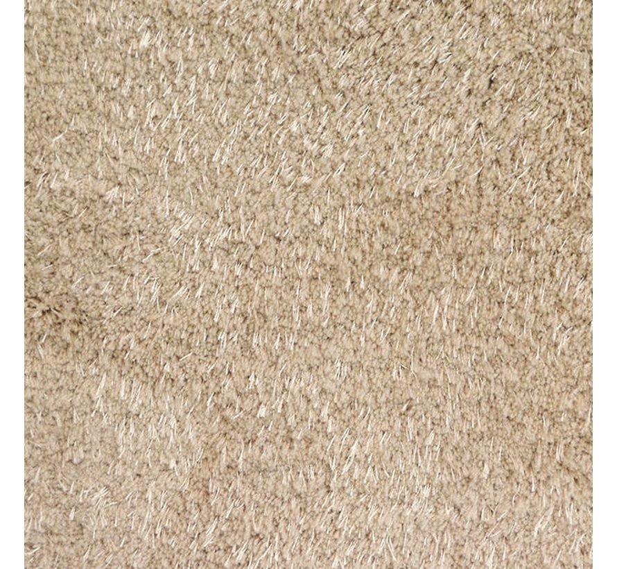 Hoogpolig tapijt champagne, 25 mm, op maat