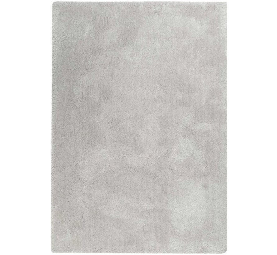 Hoogpolig tapijt parelwit, 25 mm, op maat