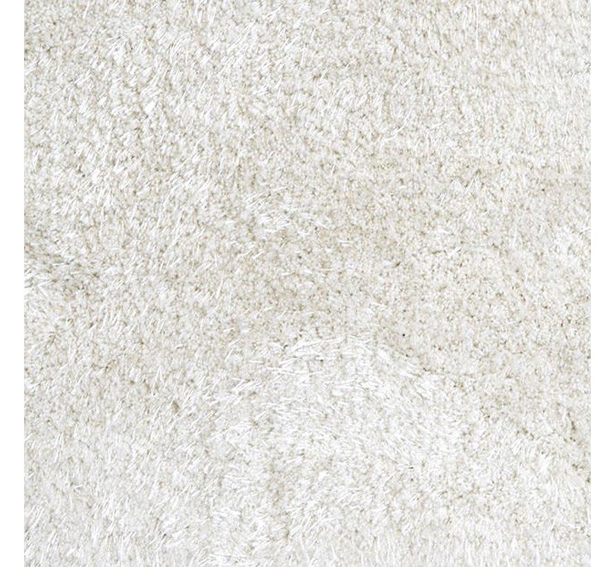 Tapis de haute laine blanc de perle, 25 mm, sur mesure