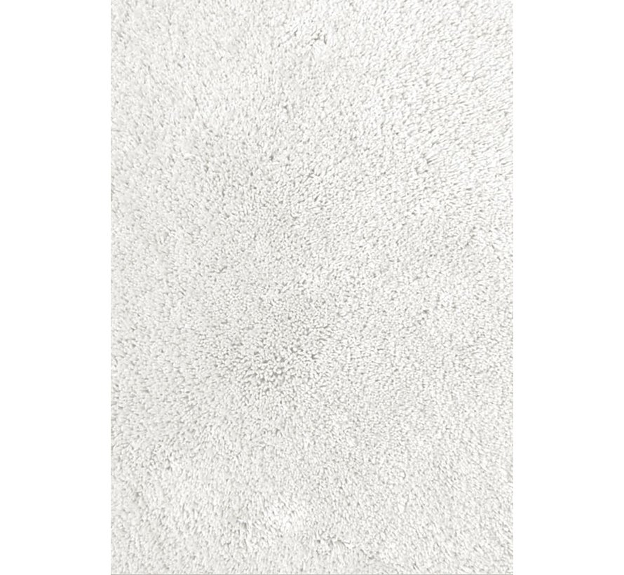 Hoogpolig tapijt wit, 35 mm, op maat