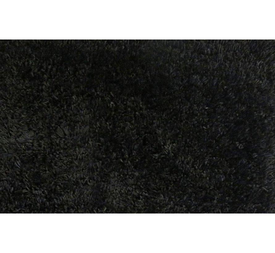 Tapis de haute laine noir, 35 mm, sur mesure