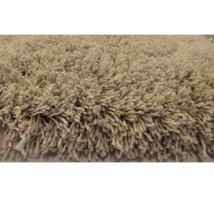 Hoogpolig tapijt taupe, 35 mm, op maat