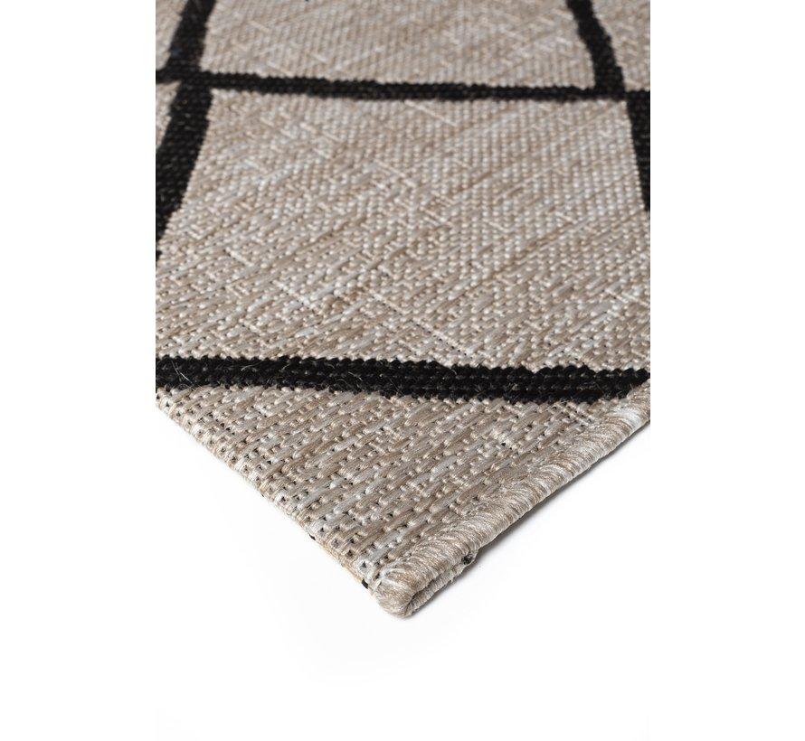 Modern tapijt zilver en zwart