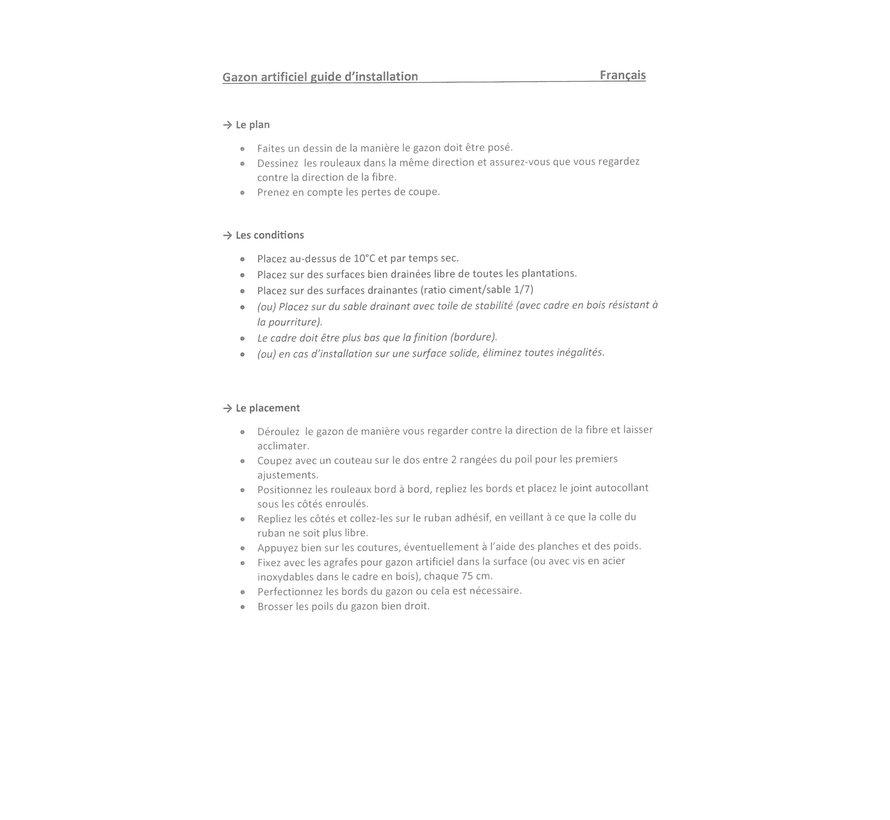 Agrafes pour gazon artificiel
