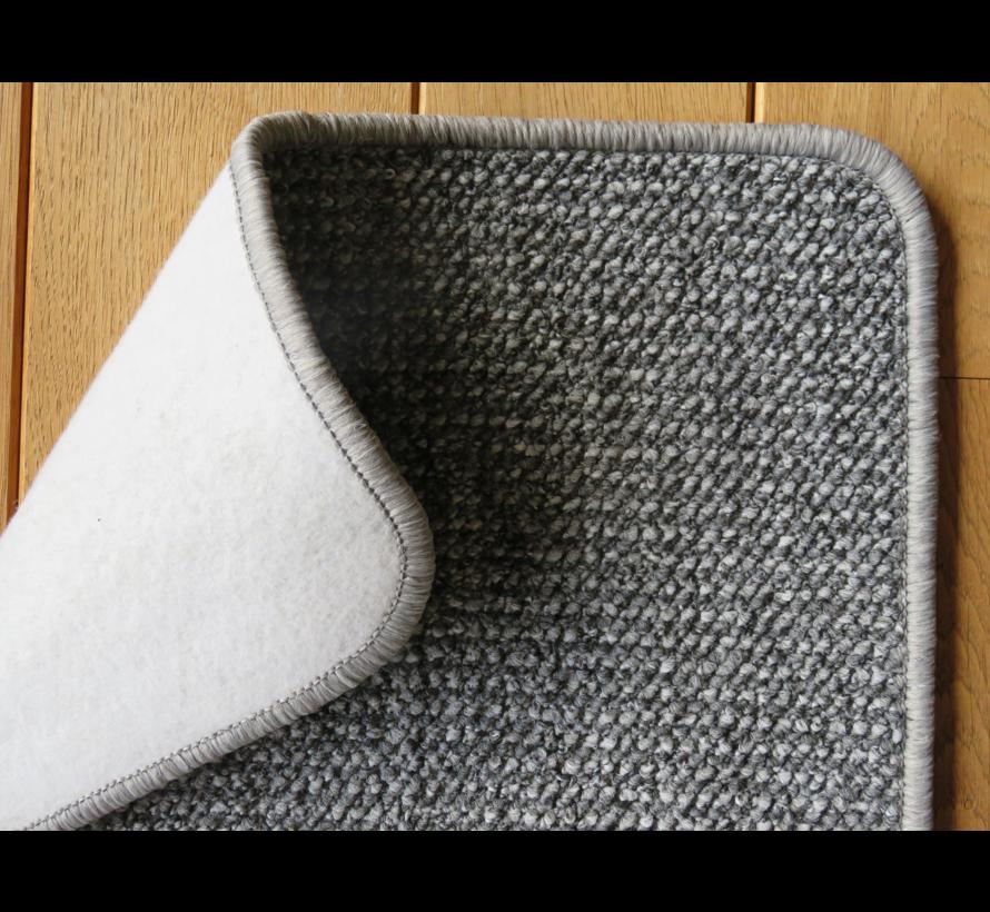 Tapis d'entrée sisal look gris