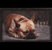 Deurmat foto franse bulldog