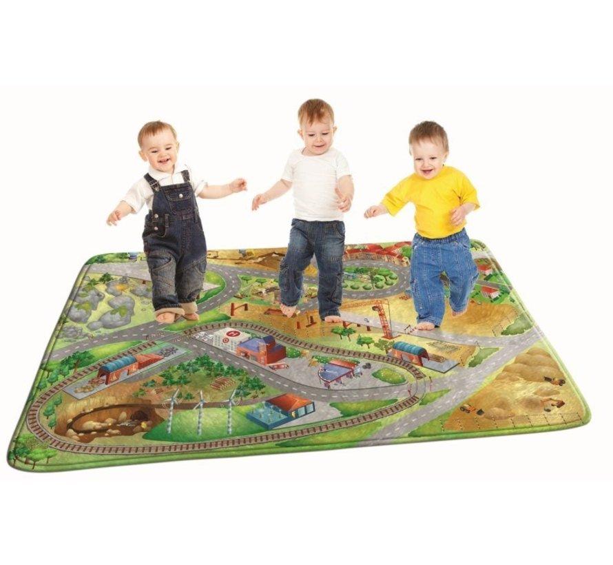 Kindertapijt bouwterrein