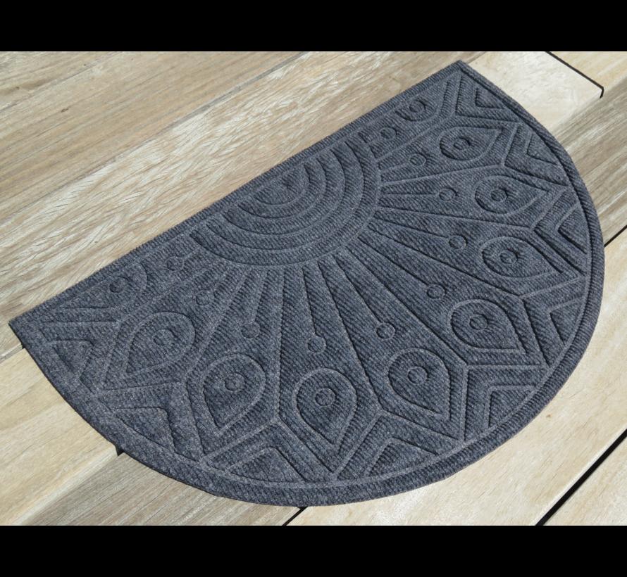Schrapende naaldvilt deurmat halfrond antraciet
